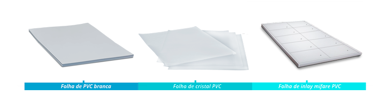 folhas de PVC mini fábrica de cartões