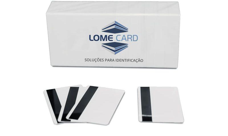 cartão pvc branco com tarja magnética